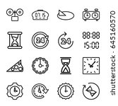 hour icons set. set of 16 hour... | Shutterstock .eps vector #645160570