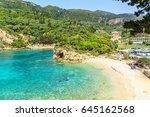 panorma od palaiokastritsa ...   Shutterstock . vector #645162568