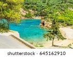 panorma od palaiokastritsa ...   Shutterstock . vector #645162910