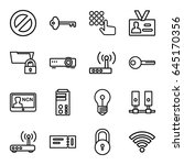 access icons set. set of 16... | Shutterstock .eps vector #645170356