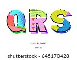 geometric letters design. ... | Shutterstock .eps vector #645170428