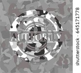authority grey camouflage emblem | Shutterstock .eps vector #645171778