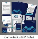 blue trendy corporate identity... | Shutterstock .eps vector #645174469