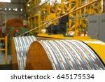 industrial copper cable winder | Shutterstock . vector #645175534