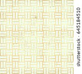 polka gold dot pattern vector.... | Shutterstock .eps vector #645184510