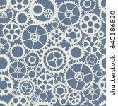 seamless wheel gear machine... | Shutterstock .eps vector #645186820