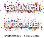 amazing paper banners with... | Shutterstock .eps vector #645193288