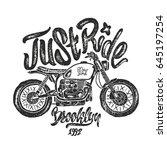illustration sketch motorcycle...   Shutterstock .eps vector #645197254