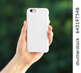 smart phone on the blurred... | Shutterstock . vector #645197548