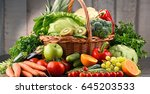 composition with assorted raw...   Shutterstock . vector #645203533
