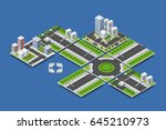 city isometric concept of urban ... | Shutterstock .eps vector #645210973