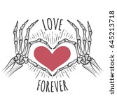 love you forever vector... | Shutterstock .eps vector #645213718