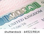 visa to uk. united kingdom visa ... | Shutterstock . vector #645219814