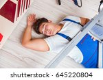 unsafe behavior concept with... | Shutterstock . vector #645220804