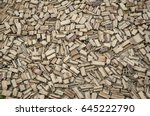 yellow brick background | Shutterstock . vector #645222790