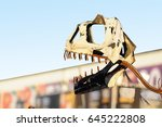 dinosaur built with metal parts   Shutterstock . vector #645222808