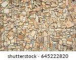 yellow brick background | Shutterstock . vector #645222820