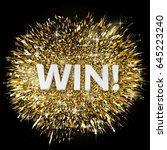 gold glitter powder explosion.... | Shutterstock .eps vector #645223240
