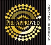pre approved gold badge | Shutterstock .eps vector #645224380