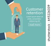 customer retention concept.... | Shutterstock .eps vector #645226339