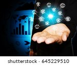 security of data against cyber... | Shutterstock . vector #645229510