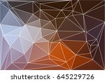 brown orange white abstract low ... | Shutterstock . vector #645229726