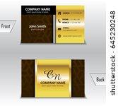 business card template gold | Shutterstock .eps vector #645230248