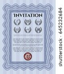 blue retro invitation. elegant... | Shutterstock .eps vector #645232684