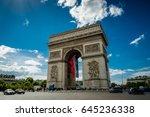 arc de triomphe  paris  france | Shutterstock . vector #645236338