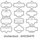 set black horizontal frames.... | Shutterstock .eps vector #645236470