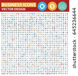 business icon set design clean... | Shutterstock .eps vector #645236644