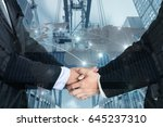 double exposure of a... | Shutterstock . vector #645237310