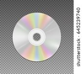 cd or dvd disc realistic... | Shutterstock .eps vector #645239740