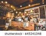 blur bar interior coffee maker... | Shutterstock . vector #645241348