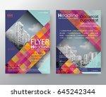 business templates creative... | Shutterstock .eps vector #645242344