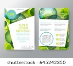 vector template colorful green... | Shutterstock .eps vector #645242350