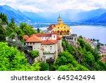 madonna del sasso church over...   Shutterstock . vector #645242494