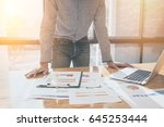 business man do turnover graph...   Shutterstock . vector #645253444