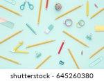school equipment. variety of... | Shutterstock . vector #645260380