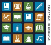 study icons set. set of 16... | Shutterstock .eps vector #645261469