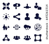 social icons set. set of 16... | Shutterstock .eps vector #645261514