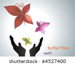 Butterflies Flying Out Of Hand...