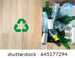 recyclable garbage consisting ...   Shutterstock . vector #645277294