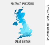 united kingdom great britain uk ... | Shutterstock .eps vector #645279178