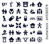 family icons set. set of 36... | Shutterstock .eps vector #645280378