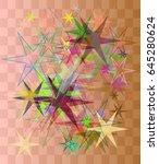 star art pattern   Shutterstock .eps vector #645280624