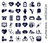 healthcare icons set. set of 36 ... | Shutterstock .eps vector #645281614