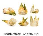bamboo shoot on the white... | Shutterstock . vector #645289714