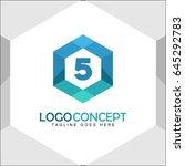 5 letter logo icon mosaic... | Shutterstock .eps vector #645292783
