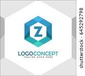 z letter logo icon mosaic... | Shutterstock .eps vector #645292798